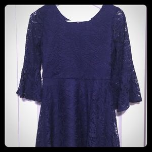 5 for $25 Amy Byer Navy Lace Dress